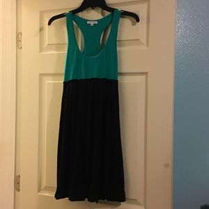 Cute racer back dress. Green and black, size S.
